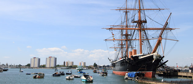 Portsmouth is located in the South East region of England, United Kingdom.